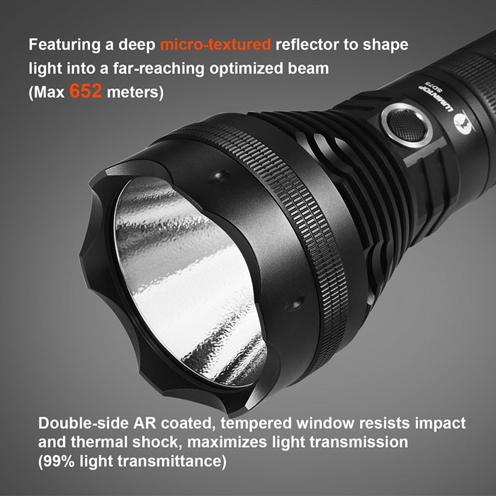 Lumintop SD75 Cree XHP70 4000Lm 4 Modes Waterproof LED Flashlight Torch Phone Charger Power Bank ( 4 x 18650 Battery )