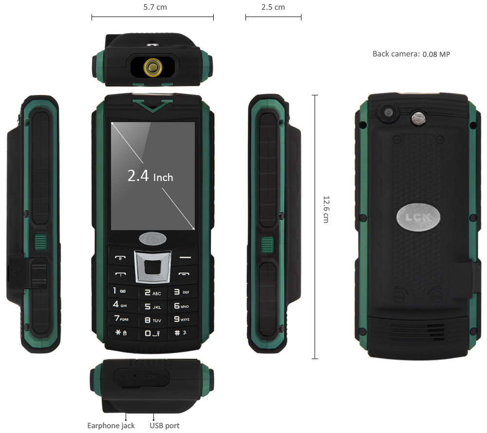 XP3400 2.4 inch 12000mAh Quad Band Unlocked Phone Dual SIM Bluetooth Camera Flashlight FM