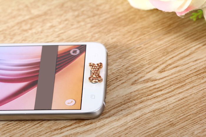 Mobile Phone Button Sticker Key Cover with Bone Design for Samsung Note 5 N9200 / S6 Edge Plus / Note 4 / S5 etc.