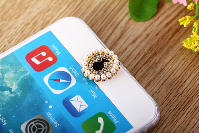 Fashionable Pearl Portrait Style Phone Home Key Button Cover Sticker for iPhone 6S / 6 Plus 5S 5 iPad