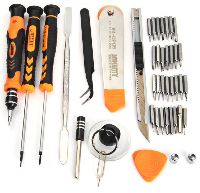 JAKEMY JM - 8139 8 in 1 Knives Pliers Screwdriver Home Repair Tool Set