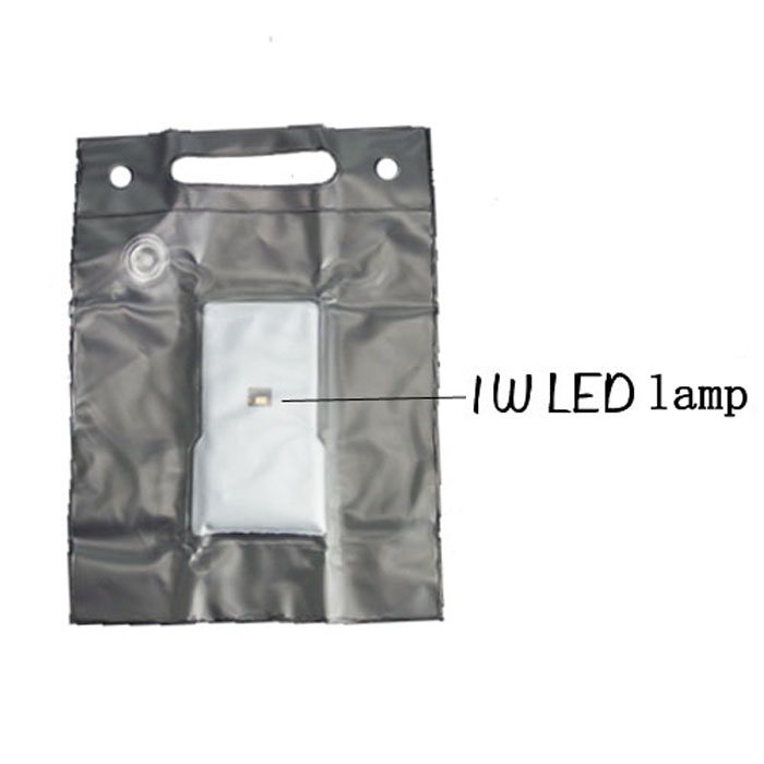 15LM Foldable Solar Air Lamp Lightweight TPU Made for Outdoor Camping