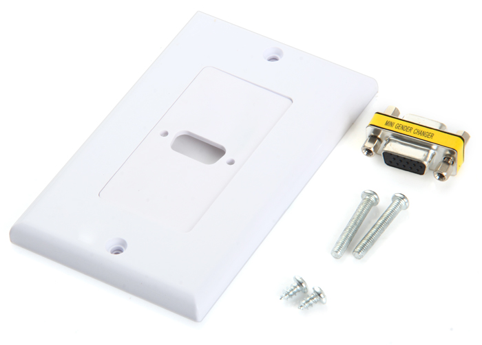 Single VGA Female to Female Wall Plate 15 Pin for PC / Television