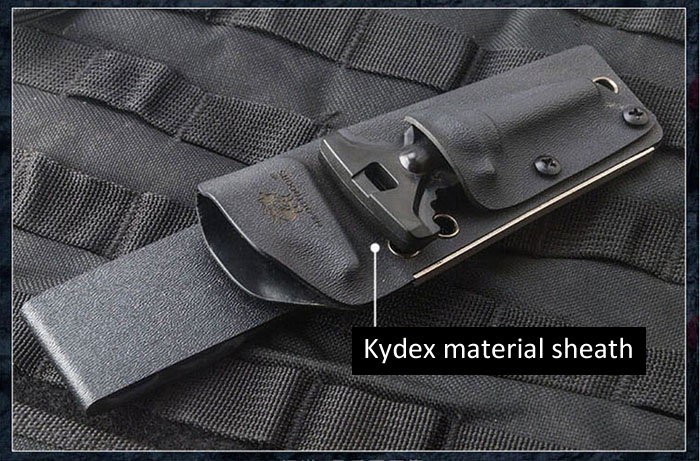 HX OUTDOORS D2 Steel Survival Straight Knife with Flintstone Sheath for Outdoor Adventure