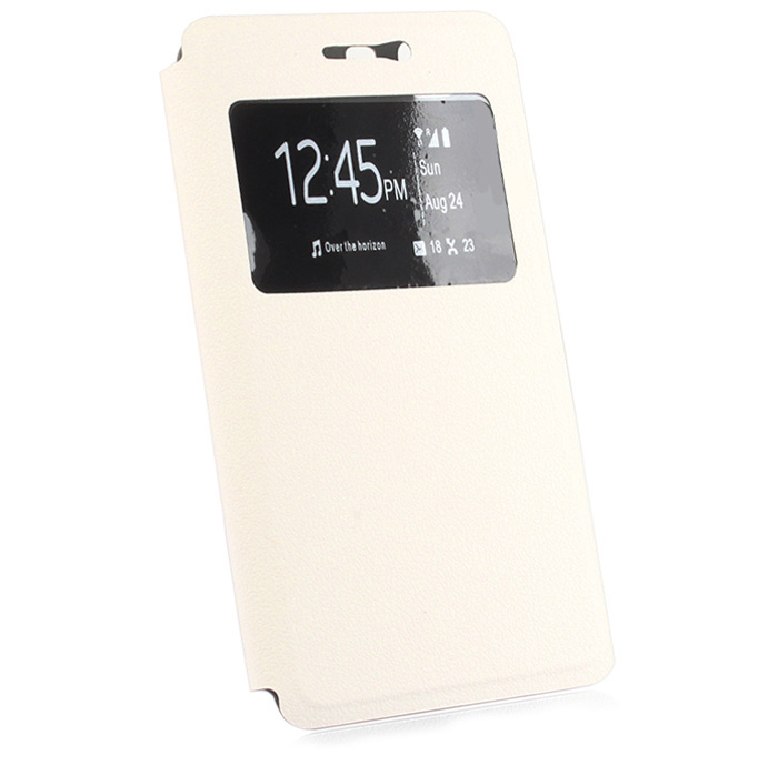 View Window Leather Protective Case with Stand Function for DOOGEE X5