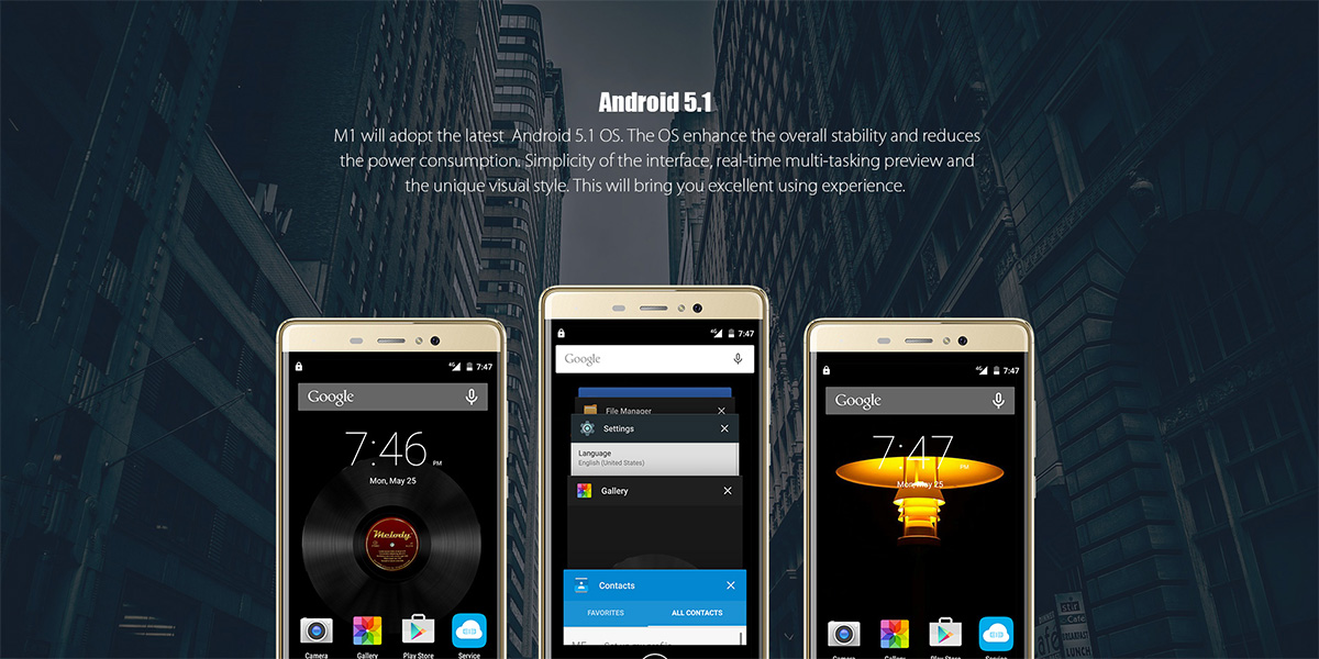 Elephone M1 5.5 inch 4G Phablet Android 5.1 MTK6735 64bit Quad Core 1.3GHz Fingerprint Recognition 2GB RAM 16GB ROM