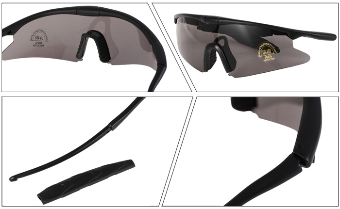 CTSmart Multifunctional Sports Glasses Windproof Anti-glare Anti-UV for Outdoor Cycling