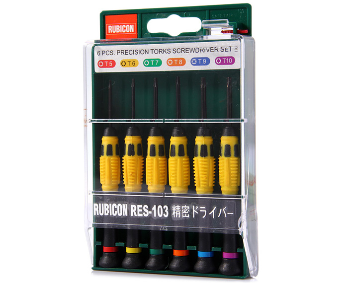 RUBICON RES-103 6 in 1 Precise Torx Screwdrivers Kit for Clocks / Watches