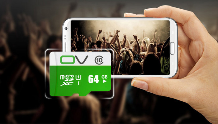 OV 64G Micro SDXC Memory Card 80MB/s Transmission Speed Class 10 UHS-1 Water Resistant / X-ray Proof / Antimagnetic