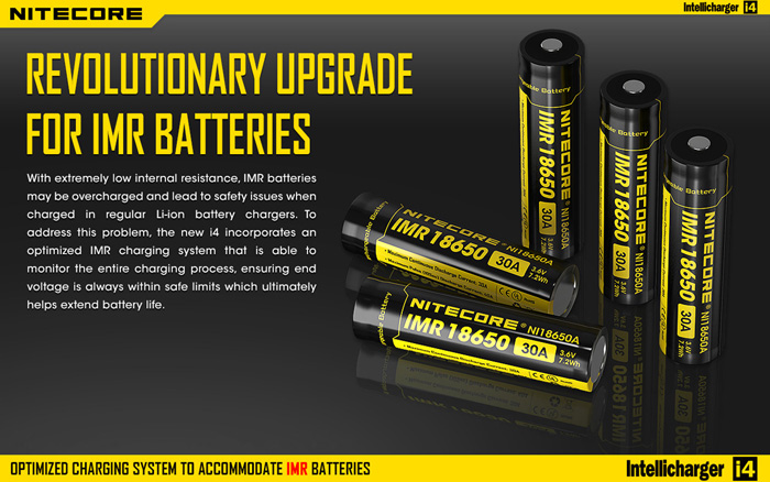Nitecore i4 Intellicharger Battery Charger + Car Charger for 26650 22650 18650 16340 RCR123 Batteries