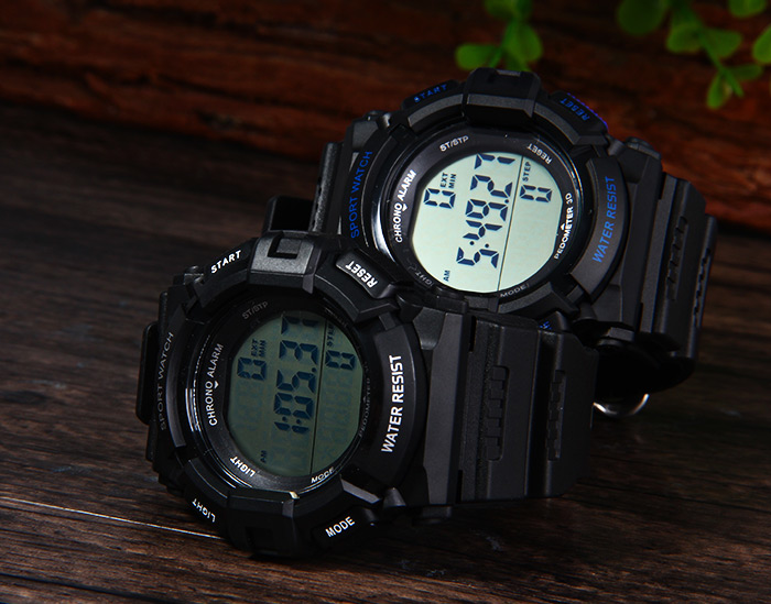 Skmei 1116 Sports Digital Watch with Pedometer 3D Function 5ATM Water Resistant for Men Students