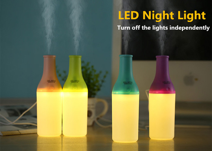 3 in 1 Practical Mini USB Cool Bottle Humidifier / Aromatherapy Machine / LED Nightlight for Car Office Home