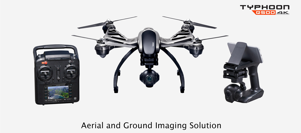 Yuneec Typhoon Q500 FPV 5.8G 10CH RC Quadcopter with 4K Camera / CGO3 3 Axis Gimbal