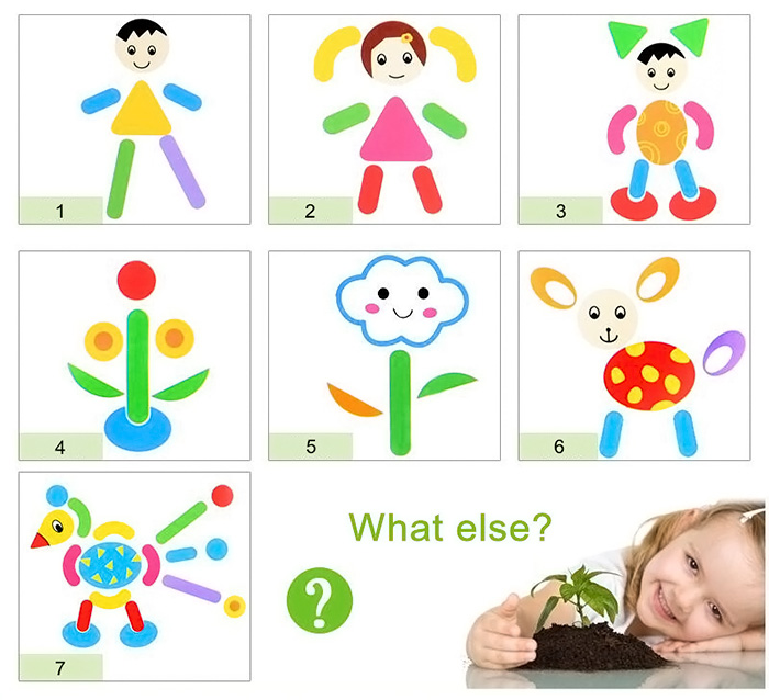 WDB - 01 Fantastic Wooden Multifunctional Magnetic Easel Double Face Drawing Board Kids Toy 70PCS