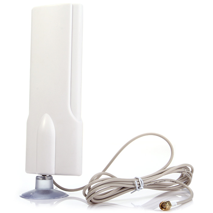 W425 Practical 4G Network Gain 30dBi SMA Male Style Indoor Booster Antenna with Suction Cup Case
