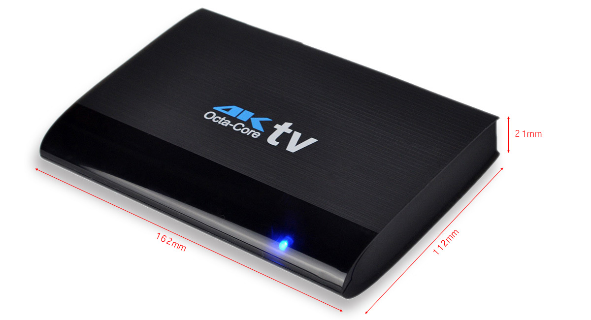Ditter U32 TV Box Android 5.1 RK3368 Octa-core 2.4GHz WiFi 1GB RAM 8GB ROM Bluetooth 4.0 Support 4K x 2K