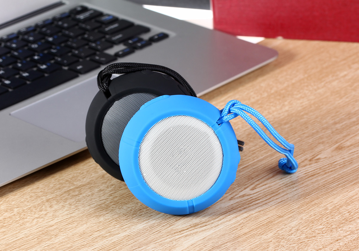 Ausdom AS2 Bluetooth 3.0 Speaker IPX3 Water Resistant LED Indicator with AUX / Micro USB Charge Slot for Phone / Tablet etc.