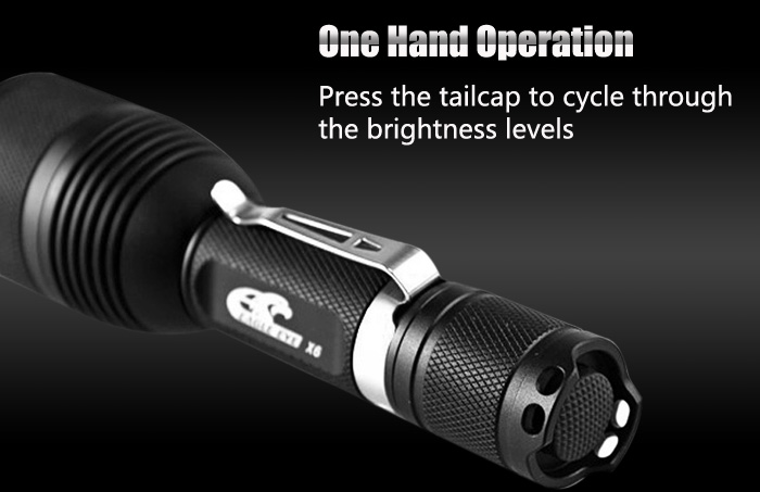 Eagle Eye X6 Cree XPL HI V21A 1200Lm LED Flashlight Torch