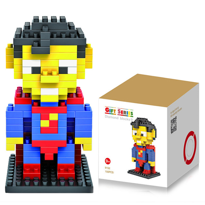 LOZ 120Pcs Superman Building Block Creative ABS Material Minifigure Toy M - 9152