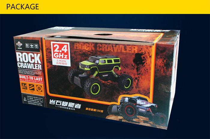 HB NO.666 - 1504 1 / 14 Scale 2.4G Four-wheel Drive Rally Car with LED Light