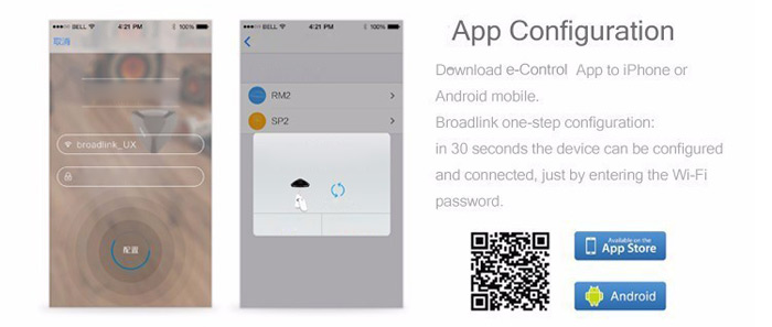 Broadlink RM pro WIFI + IR + RF Remote Controller Timing Function for Home Appliances
