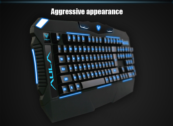 AULA Dragon Deep Wired USB Esports Gaming Keyboard 104 Keys with 3 Colorful Backlight