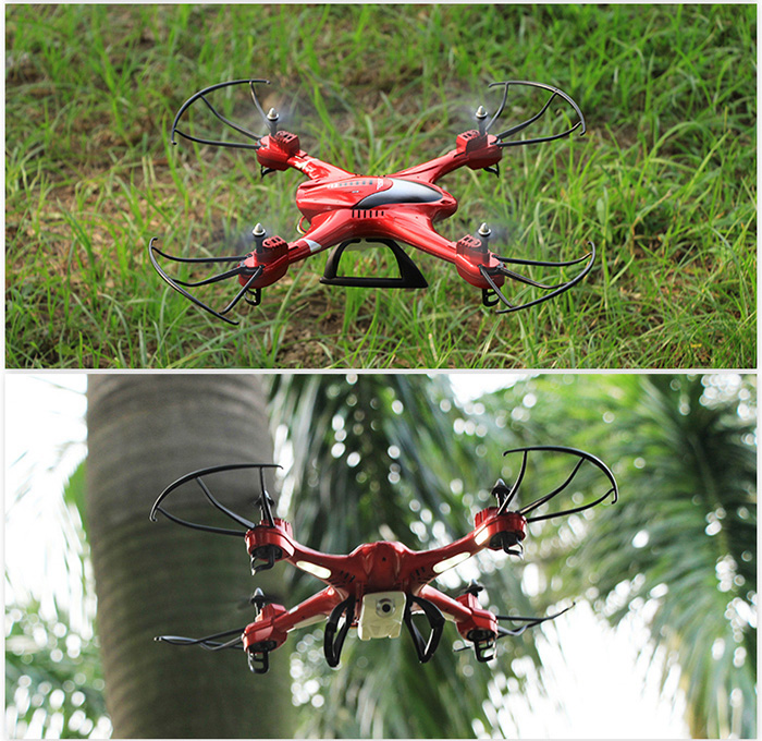 SJ X300 - 2C 2.4GHz 4CH RC Quadcopter Drone with 2.0MP Camera Headless Mode 4D Eversion