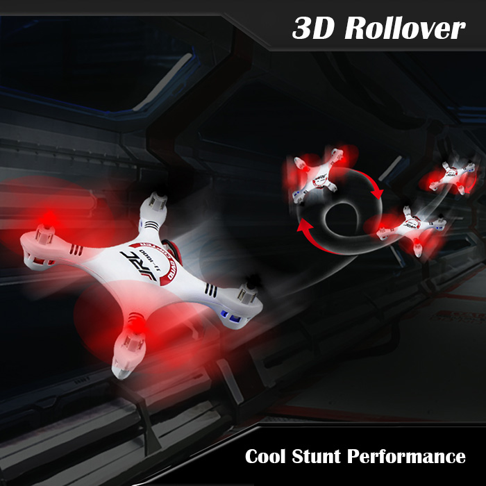 JJRC JJ - 1000 Headfree 6 Axis Gyro 2.4G 4CH RC Quadcopter BNF with 360 Degree Eversion