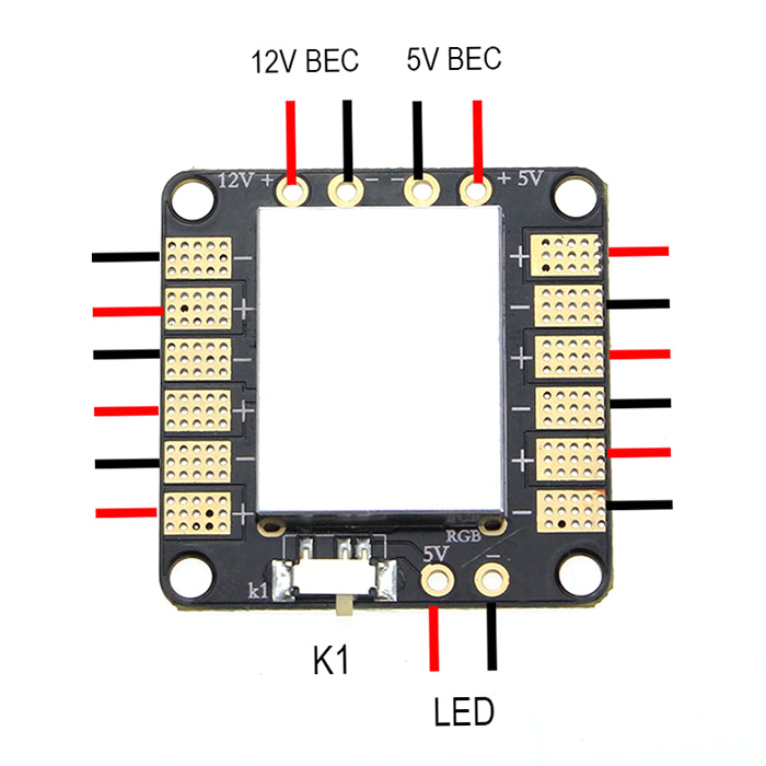 EMAX Two-way BEC Power Distribution Board for Quadcopter Multirotor