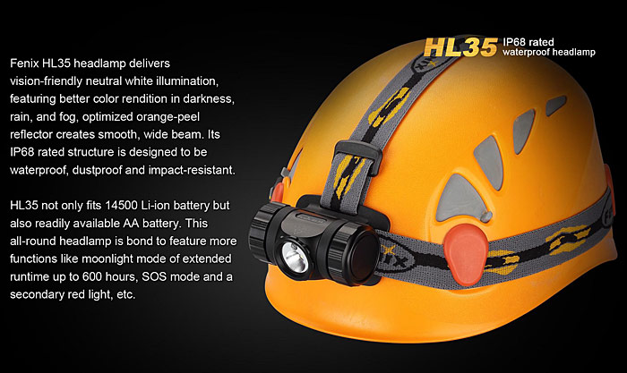 Fenix HL35 Cree XP G2 R5 450Lm Neutral White + Red Light LED Headlamp