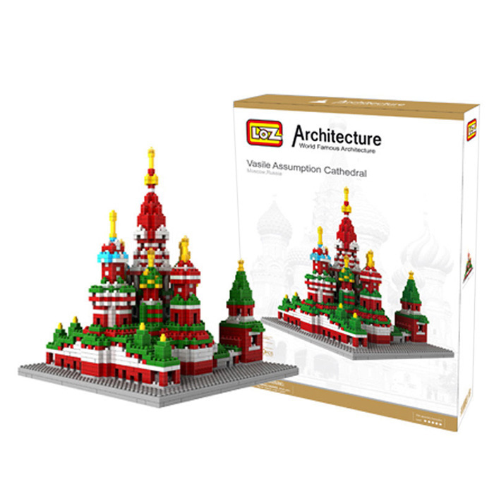 LOZ 1860Pcs 9375 Vasily Cathedral Building Block Educational Kid Toy - World Great Architecture Series