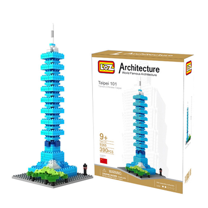 LOZ 390Pcs 9365 Taipei 101 Tower Building Block Educational Kid Toy - World Great Architecture Series