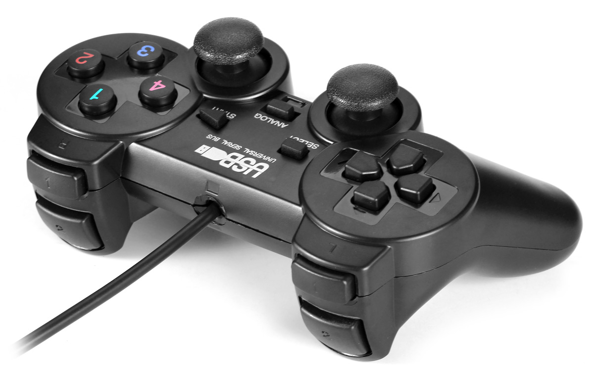 USB-208 2nd Generation USB 1.0 / 2.0 Wired Game Controller Double Shock
