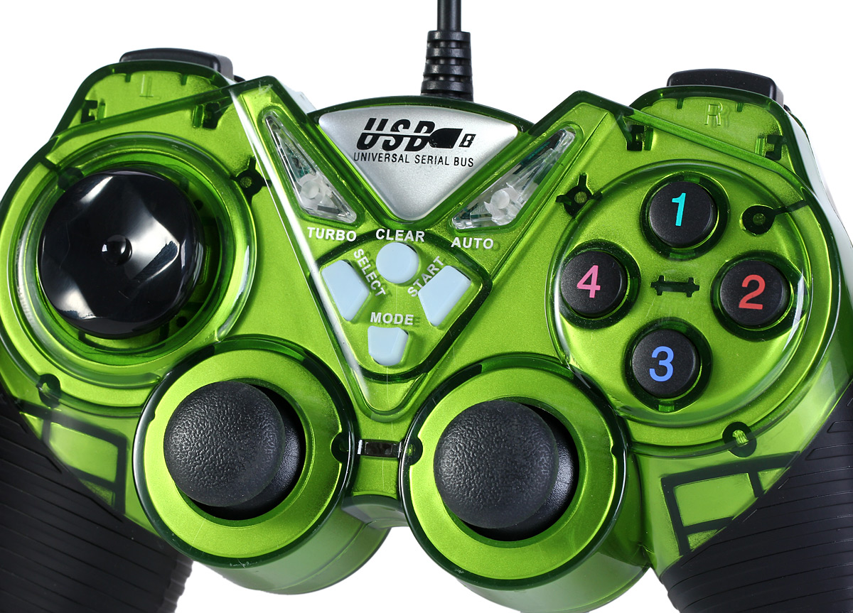 USB-908 USB 1.0 / 2.0 Wired Game Controller Double Shock for XBOX PS3 PC Laptop