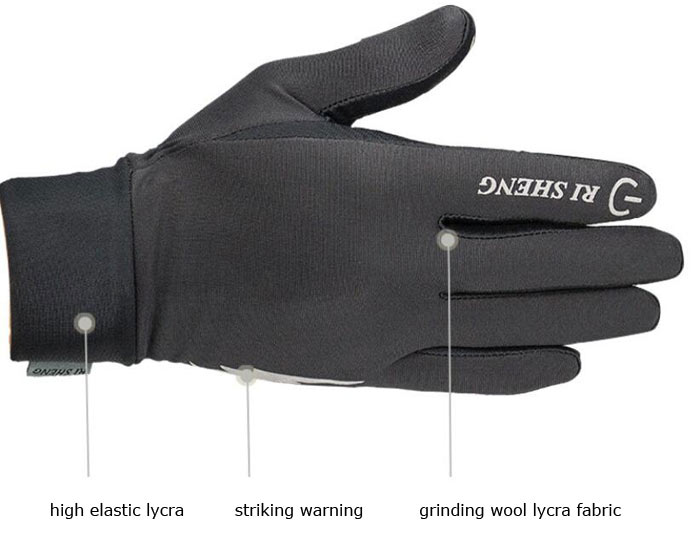 RI SHENG Silicone Anti-skid Touch Screen Gloves Riding Full-finger