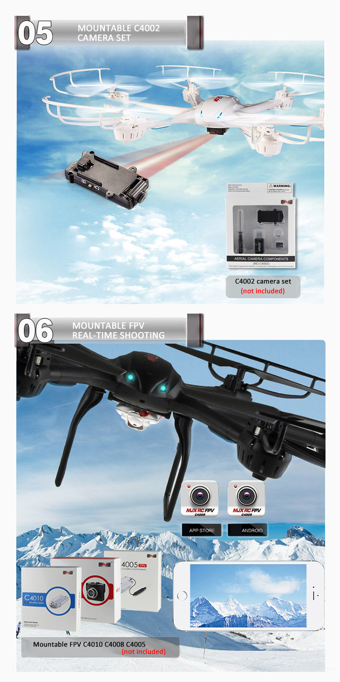 MJX X600 Headless Mode 2.4GHz 6 Axis Gyro RC Hexacopter with 3D Roll Stumbling Function