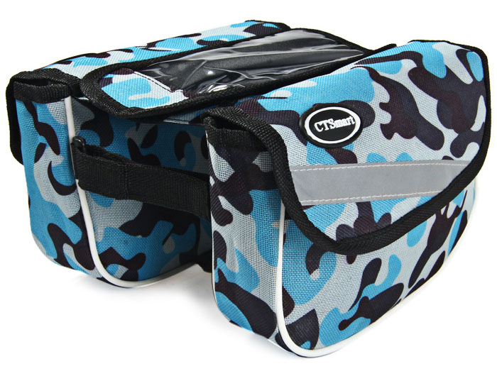 CTSmart Bicycle Frame Double Saddle Bag 600D Oxford Fabric Made