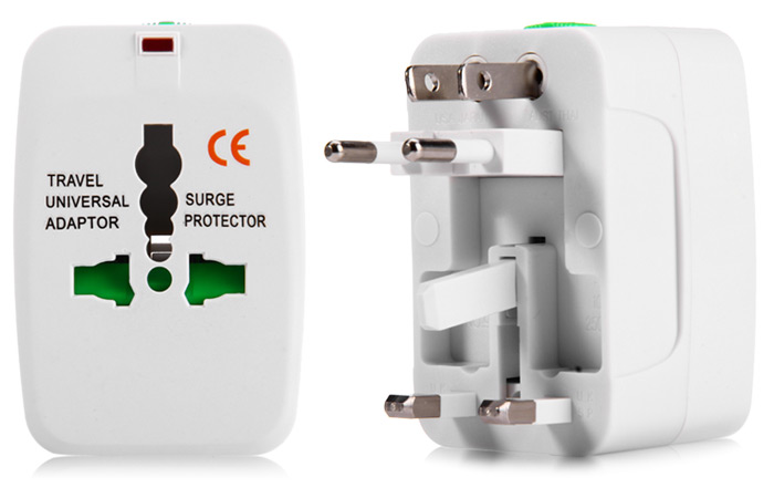 Universal World Wide Travel Charger Power Adapter Plug ( US / UK / EU / AU ) with Lock Design