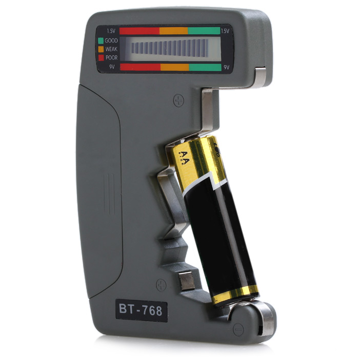 BT-768 LCD Digital Battery Capacity Tester Pointer Type for AA / AAA Button Cell