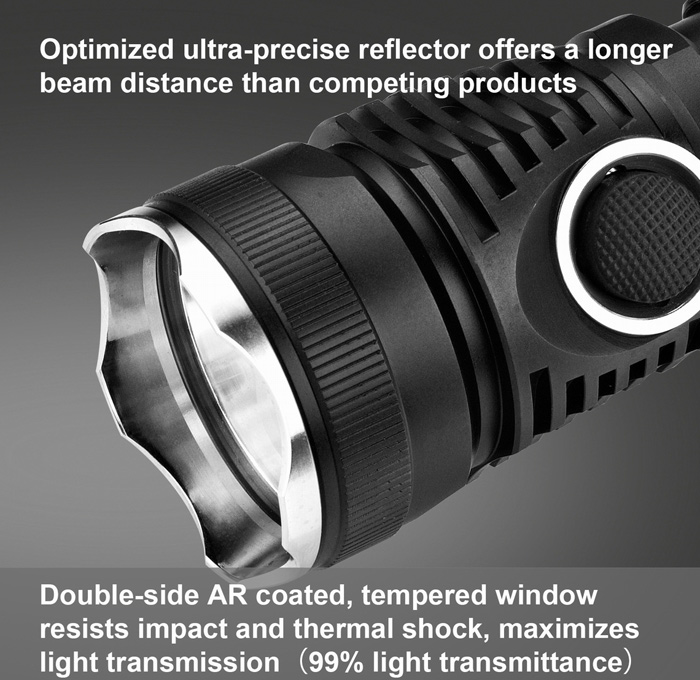 Lumintop TD16 CREE XM L2 U2 1000LM Waterproof LED Flashlight Torch