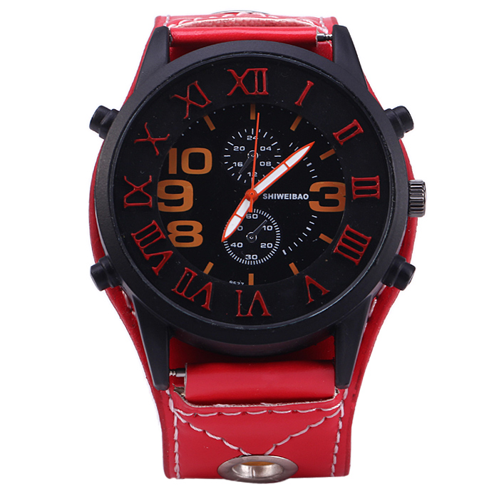 Shiweibao 9527 Quartz Watch with Stereo Scales for Men
