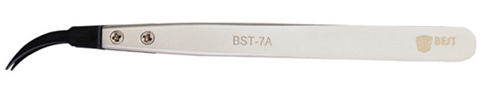 Best BST-7A Elbow Tip Anti-static Tweezer Selected with Replaceable Head for Precision Component