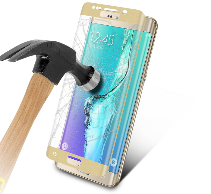 Angibabe Tempered Glass Protective Screen Film for Samsung Galaxy S6 Edge Plus G9280 9H 0.3mm 2.5D Arc Anti-explosion