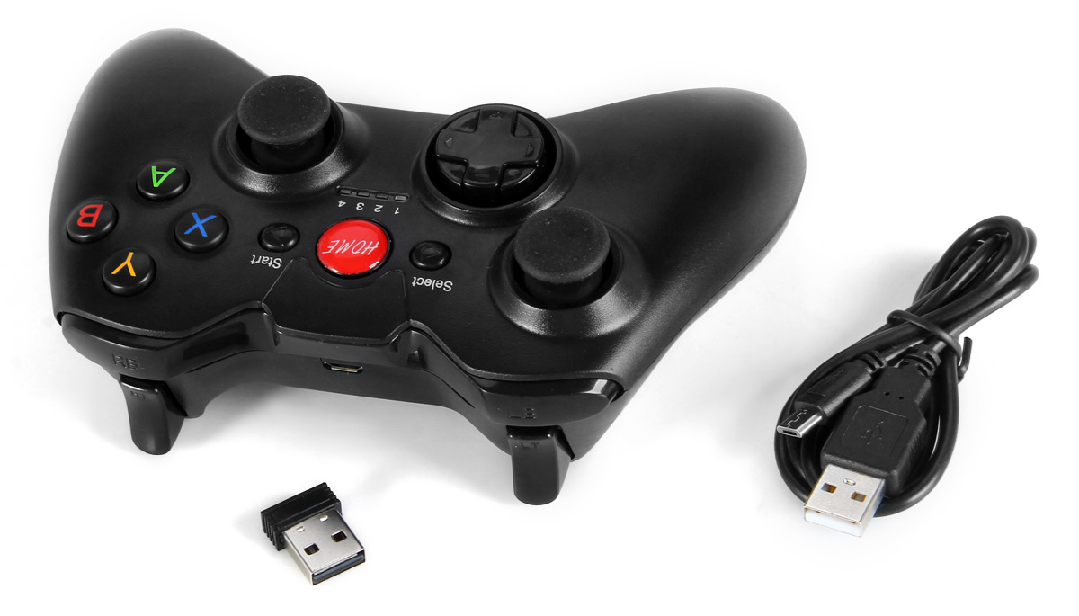 2.4GHz Wireless Gamepad for PC / TV / Tablet etc.