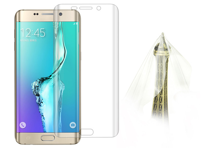 Angibabe Screen Protector Film for Samsung Galaxy S6 Edge Plus G9280 PET Material 0.1mm Ultra-thin Arc Full Cover Film
