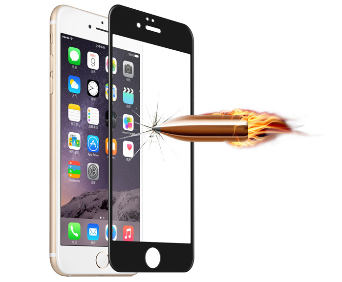 Angibabe Tempered Glass Protective Screen Film for iPhone 6 / 6S CNF Soft Edge 9H 0.3mm 3D Arc Anti-explosion