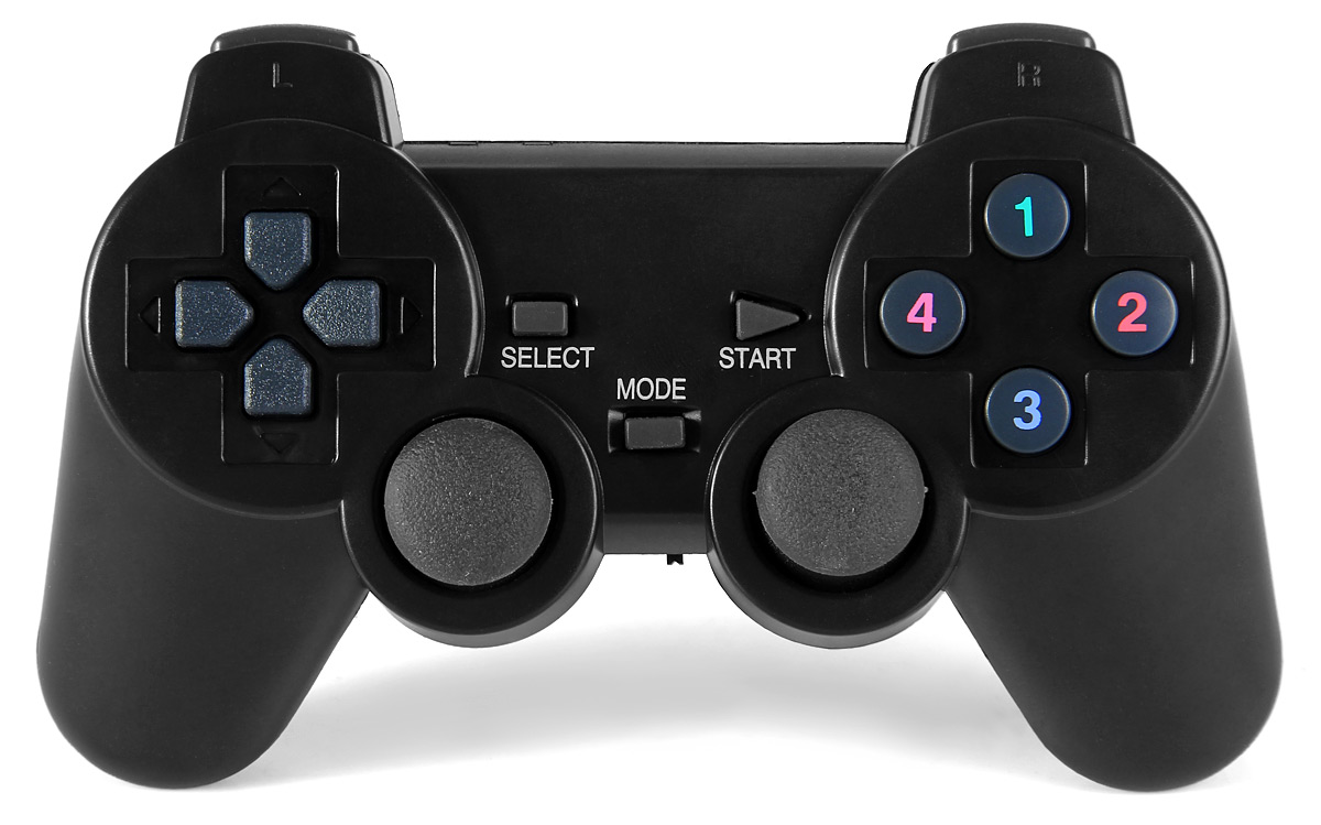 2PCS 2.4GHz Wireless Game Controller with Receiver for Desktop Laptop