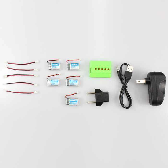 KH20 - 004 5Pcs 3.7V 150mAh 30C Battery Set with 5 Port Charger Fitting for JJRC H20 H20H Remote Control Hexacopter