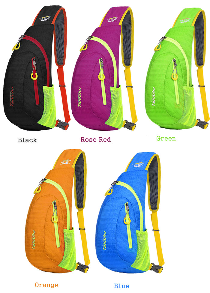 Tanluhu 5.5L Nylon Chest Bag Lightweight Breathable for Camping