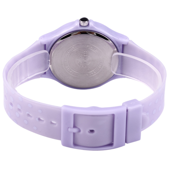 Willis Female Quartz Watch with Pure Color Plastic Strap